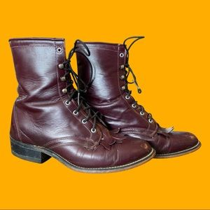 Laredo Leather Wine Roper Boots